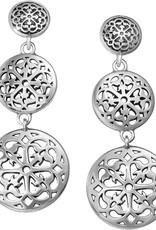 Brighton Ferrara Medallion Post Drop Earrings
