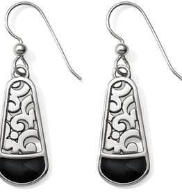 Brighton Catania French Wire Earrings Silver-Black