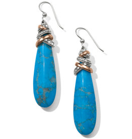 Brighton Neptune's Rings Pyramid Turquoise French Wire Earrings