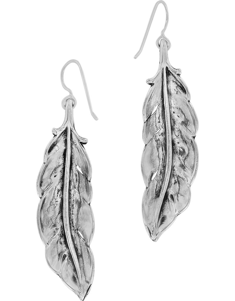Brighton Contempo Ice Feather French Wire Earrings