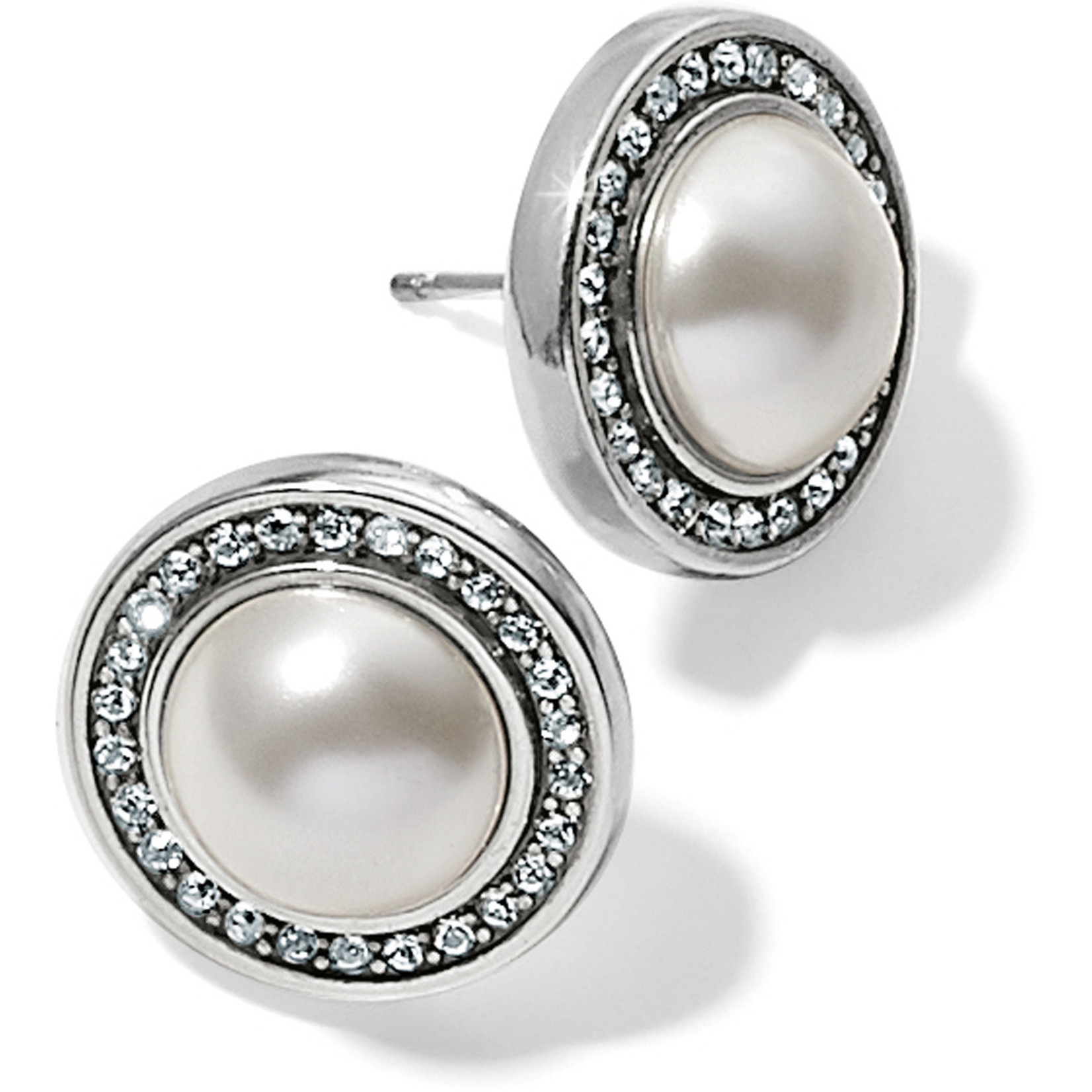 Brighton Chara Ellipse Pearl Post Earrings