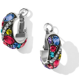 Brighton Trust Your Journey Hoop Earrings Silver-Multi