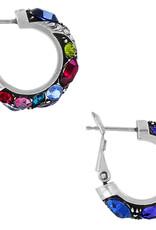 Brighton Trust Your Journey Hoop Earrings Silver-Multi