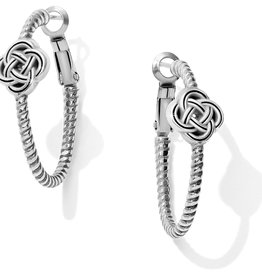 Brighton Interlok Knot Rope Hoop Earrings
