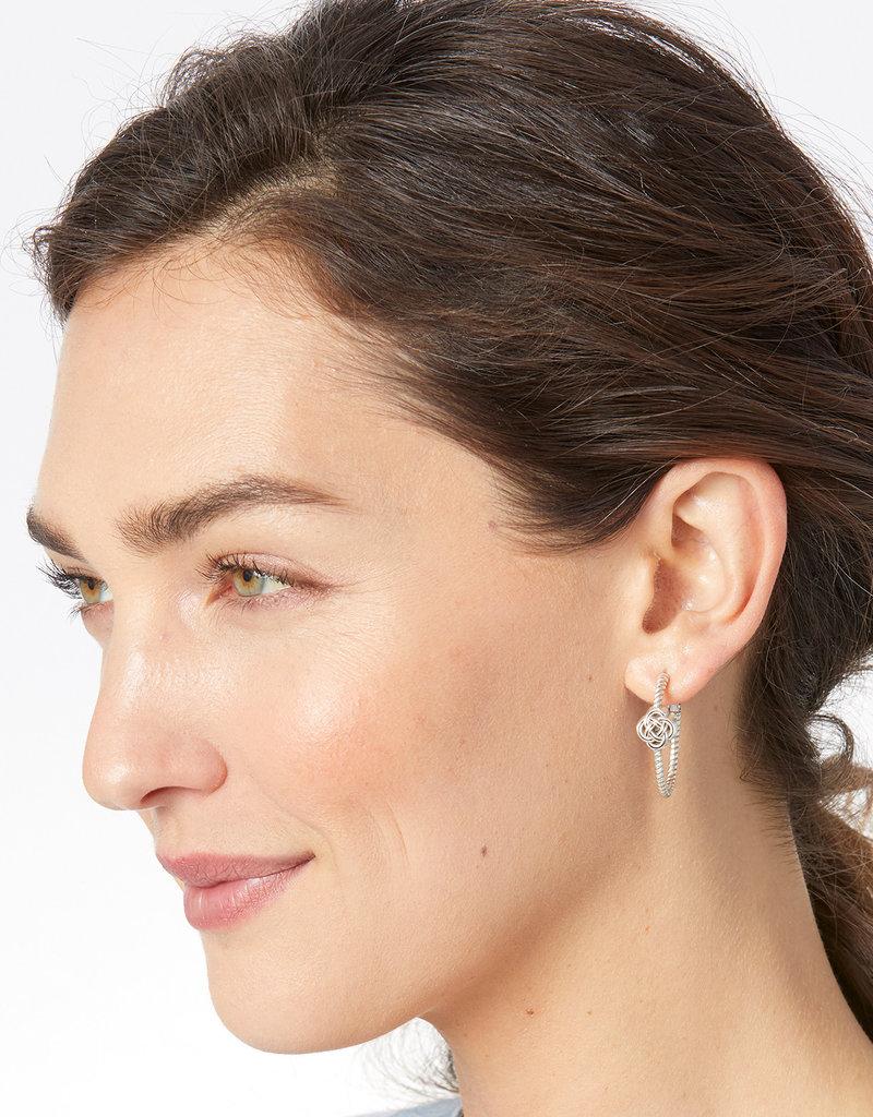 Brighton Interlok Knot Rope Hoop Earrings
