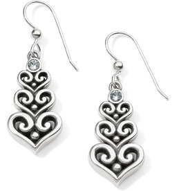 Brighton Alcazar Heart Trio French Wire Earrings