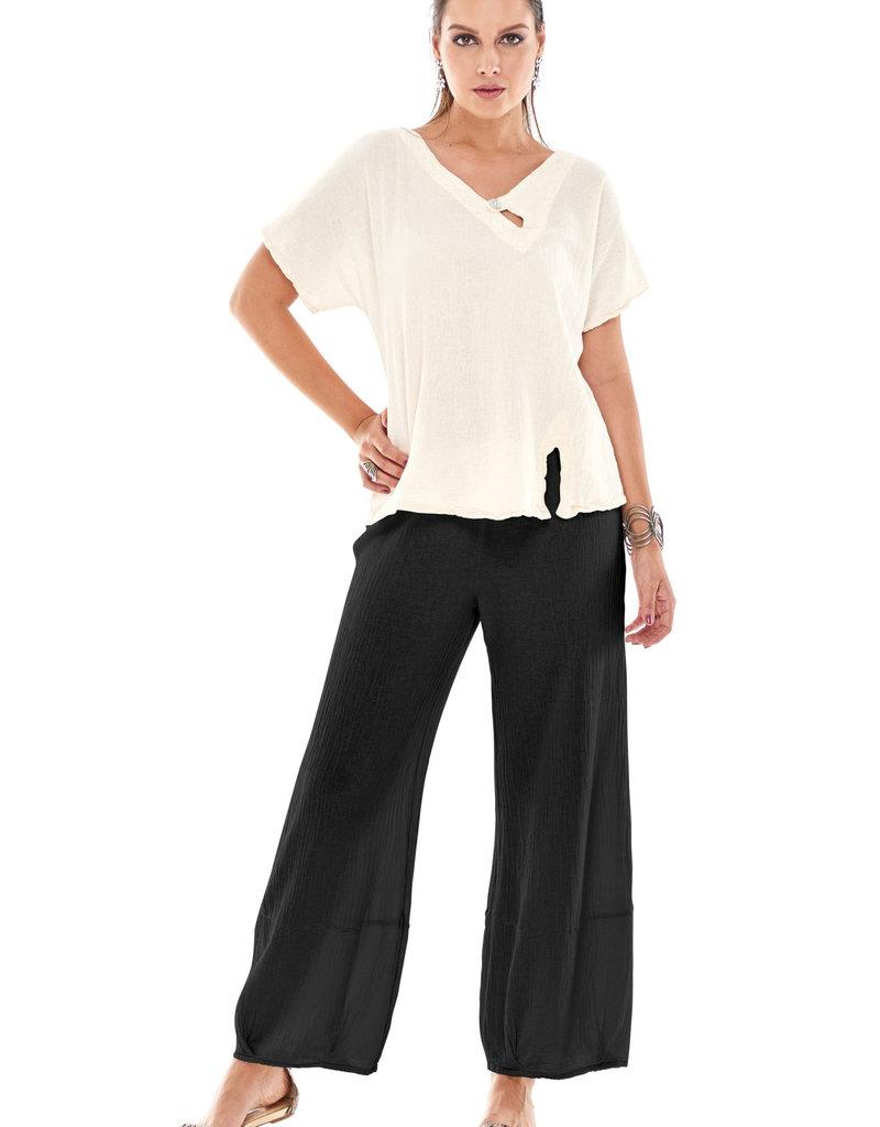 Oh My Gauze Savannah Pants w/ Loose Legs/ Tucked Hemline