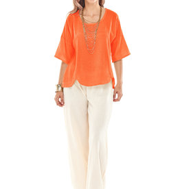 Oh My Gauze Scallop Top w/ 3/4 Sleeves and Scallop Hemline