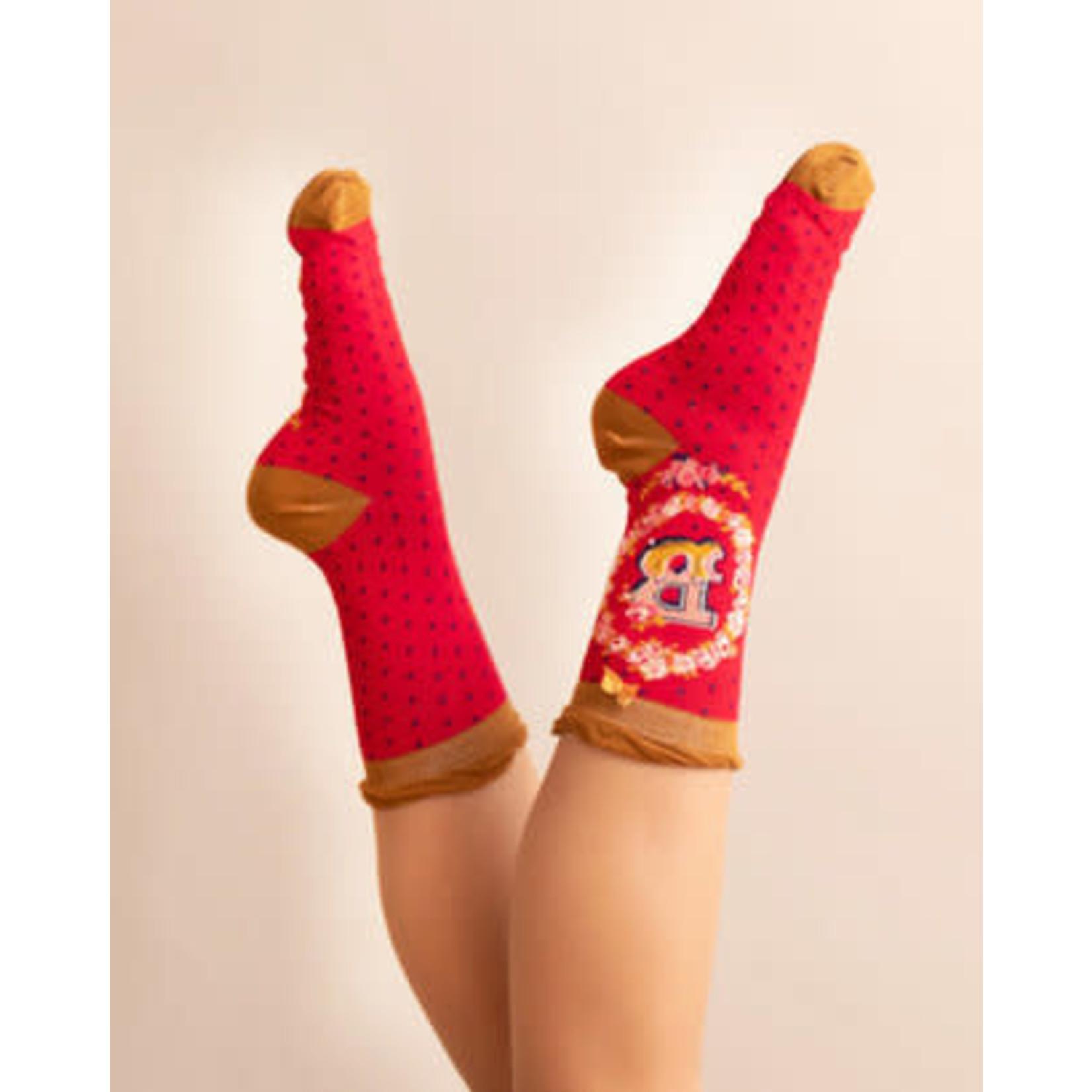 Powder Socks/Initials