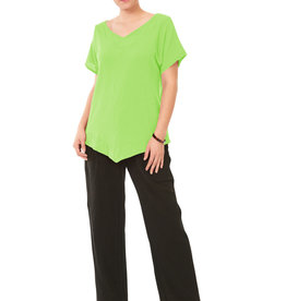 Oh My Gauze Venice Top w/ VShape Hemline and Short Capped Sleeves