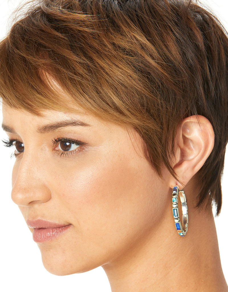 Brighton Blue Showers Leverback Hoop Earrings