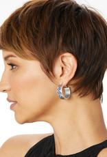 Brighton Royal Brocade Leverback Hoop Earrings