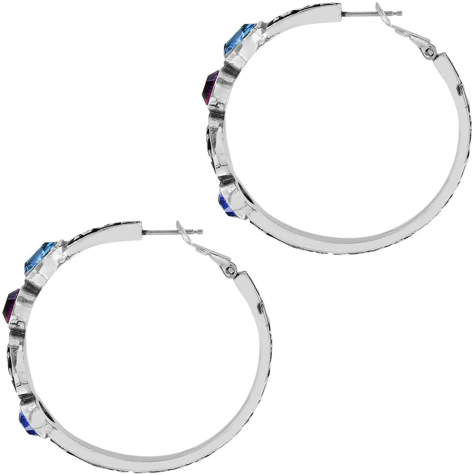 Brighton Elora Gems Vitrail Hoop Earrings