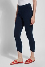 Indigo Leggings w/ Scallop Edge Hemline