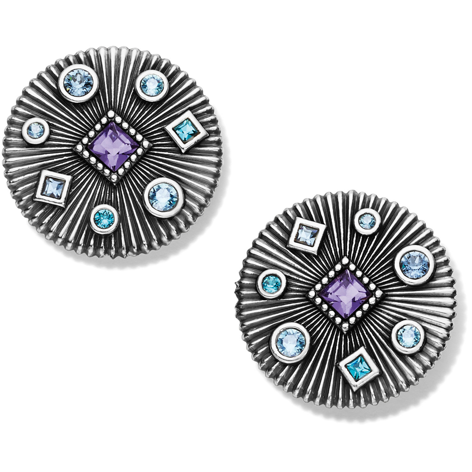 Brighton Halo Rays Round Post Earrings
