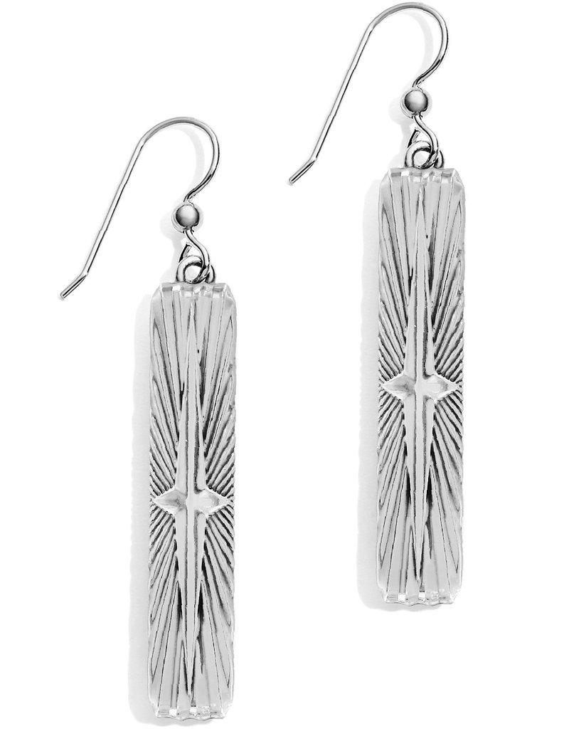 Brighton Halo Rays Bar French Wire Earrings Tanzanite