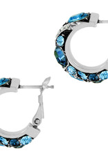Brighton Trust Your Journey Hoop Earrings Silver-Blue