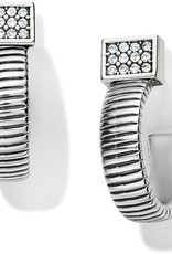 Brighton Meridian Zenith Tubogas Hoop Earrings Silver
