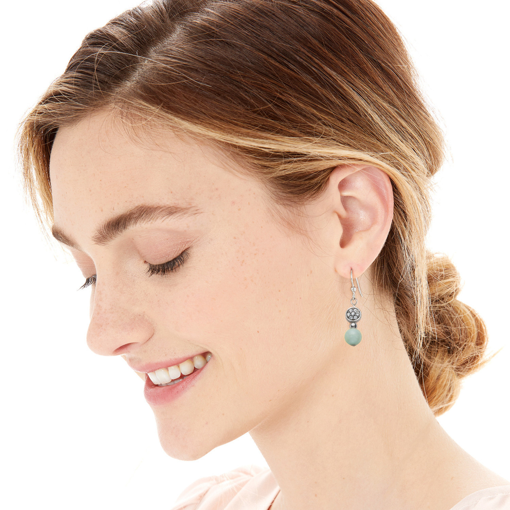Brighton Meridian Petite Prime French Wire Earrings Silver-Light Blue OS