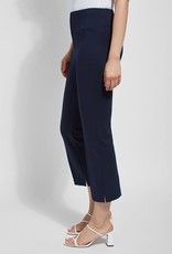 Harley Wide Leg Crop Pants w/ Ankle Slits & Center Leg Pintuck