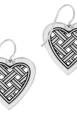 Brighton Love Cage Heart French Wire Earrings Silver