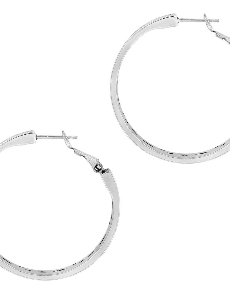 Brighton Barbados Park Hoop Earrings Silver