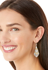 Brighton Tapestry Kite French Wire Earrings Silver-Gold
