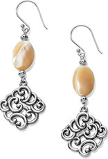 Brighton Barbados Nuvola Shell French Wire Earrings Silver Pearl