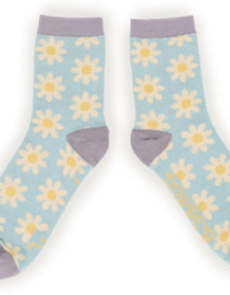 Powder Socks~LadiesAnkle~Daisy Ice