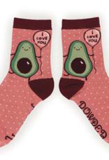 Powder Socks~LadiesAnkle~Avocado~I Love You