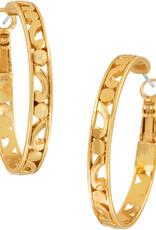 Brighton Contempo Medium Hoop Earrings Gold