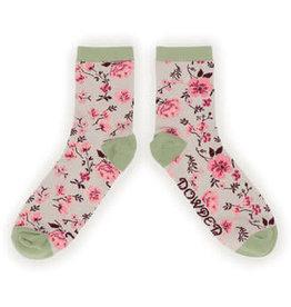 Powder Socks~LadiesAnkle~Pink Blossom