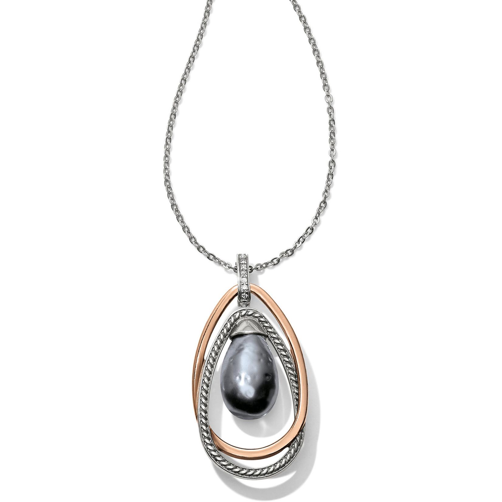 Brighton Neptune's Rings Gray Pearl Pendant Necklace