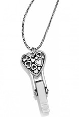 Brighton Floating Heart Badge Clip Necklace