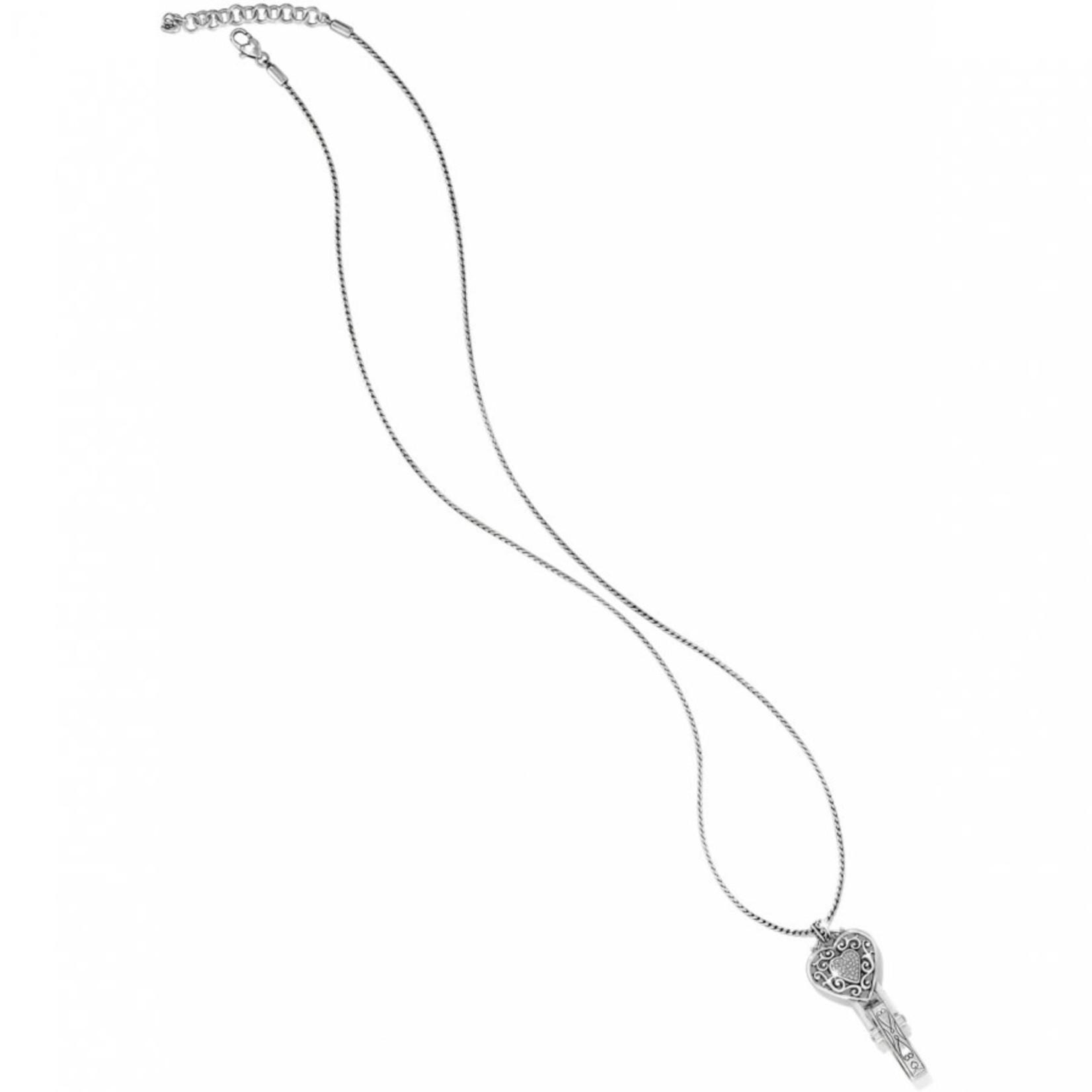 Brighton Reno Heart Badge Clip Necklace