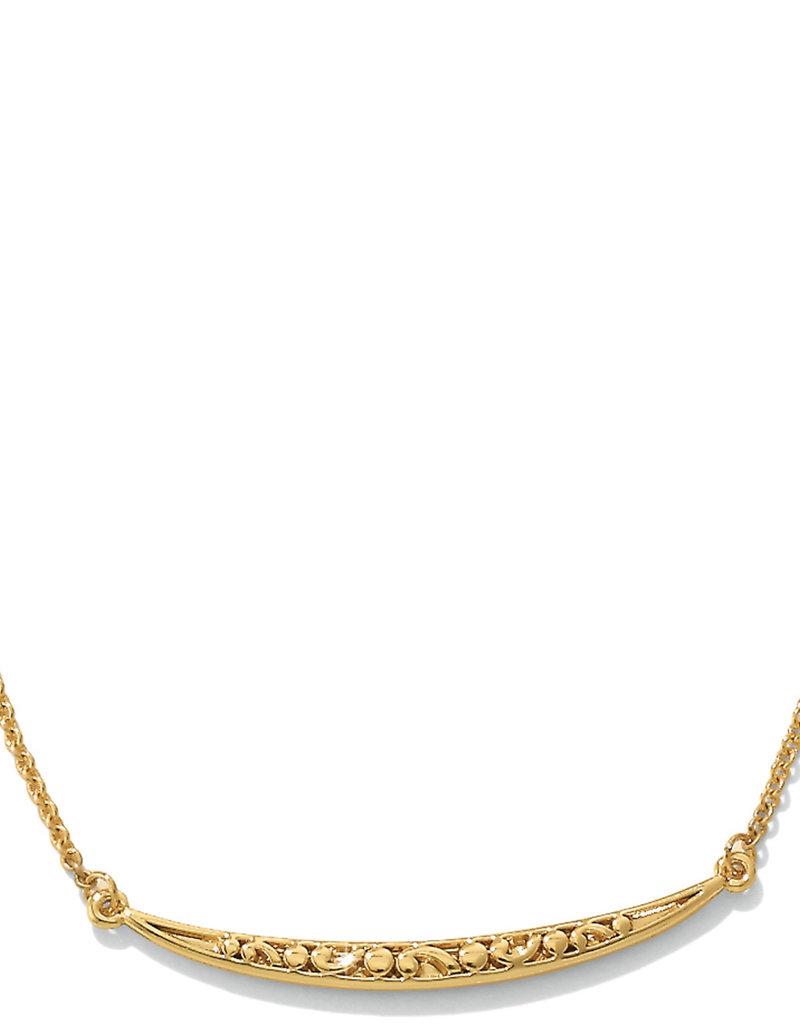 Brighton Contempo Ice Reversible Necklace Gold