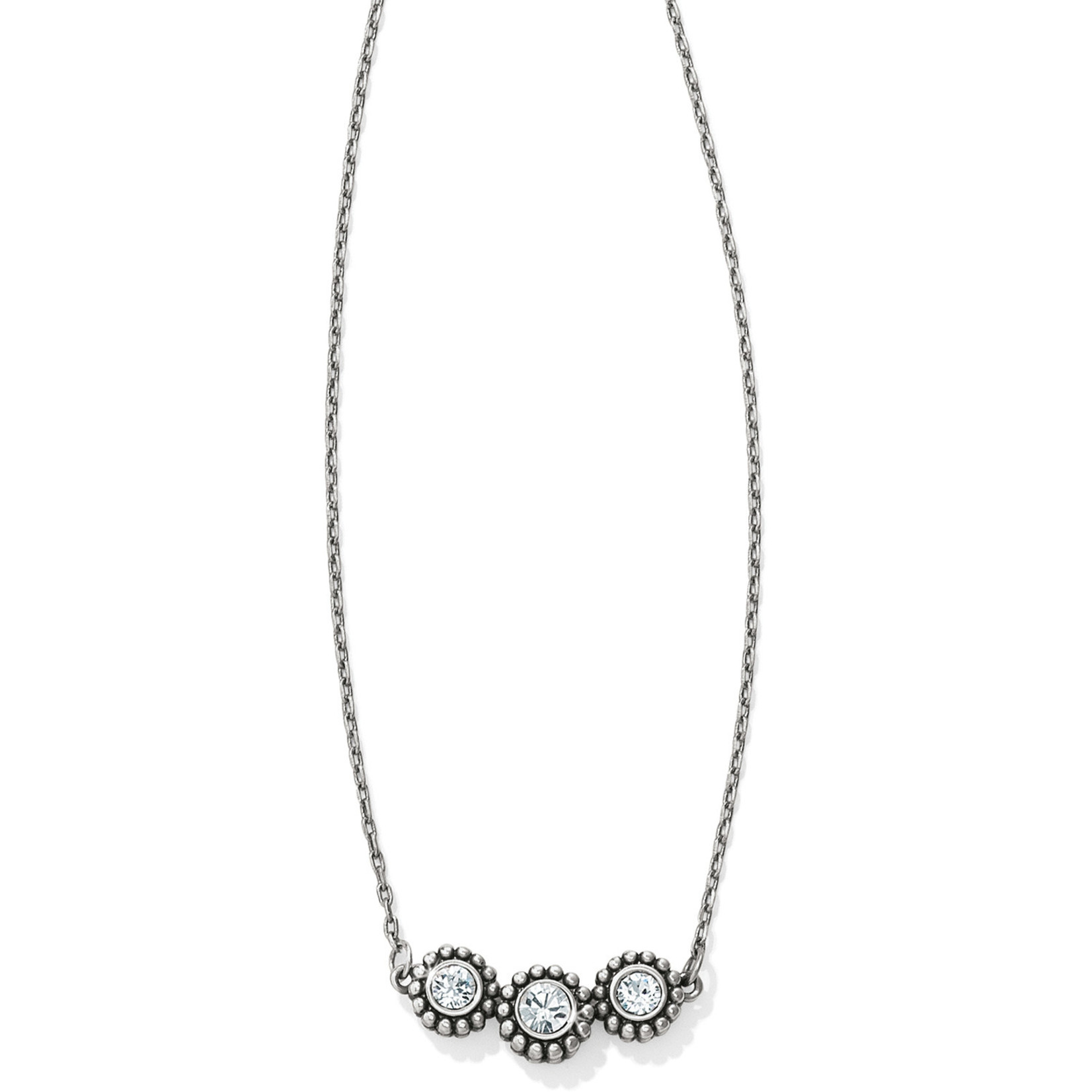 Brighton Twinkle Triple Stone Necklace
