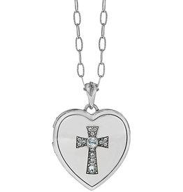 Brighton Call To Love Heart Locket Necklace