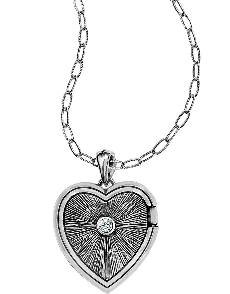 Brighton Call To Love Heart Locket Necklace