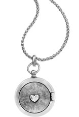 Brighton Interlok Small Round Locket Necklace