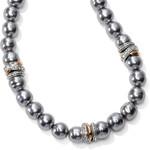 Brighton Neptune's Rings Gray Pearl Short Necklace