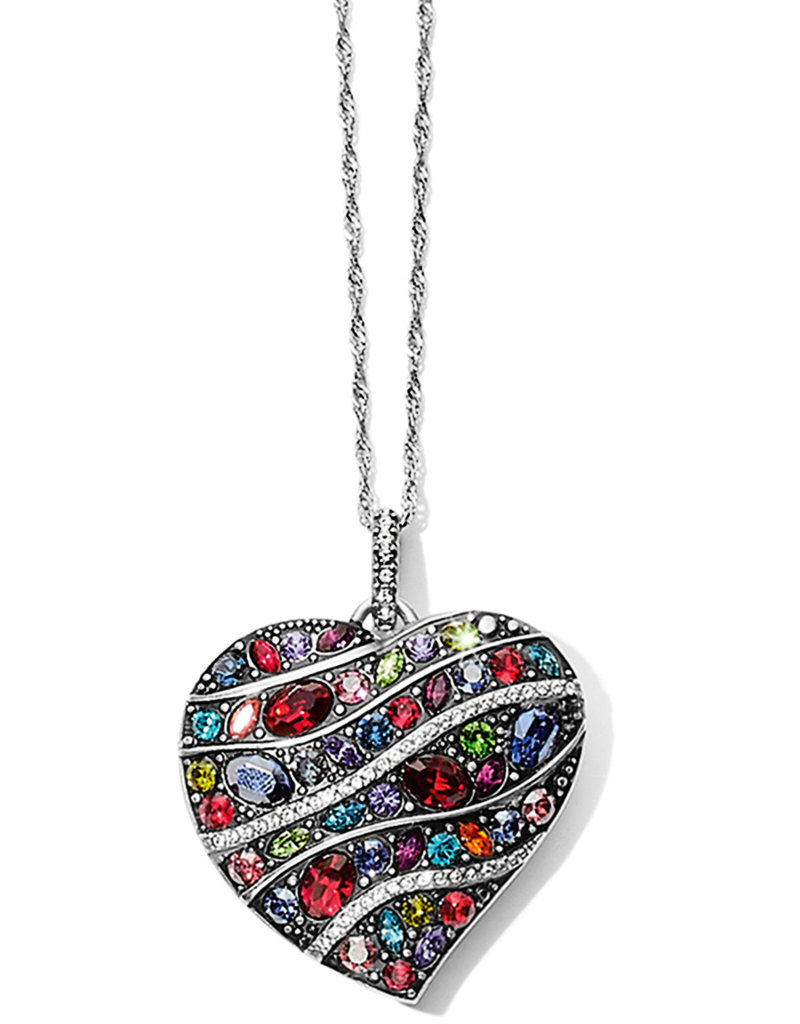 Brighton Trust Your Journey Convertible Reversible Large Heart Necklace