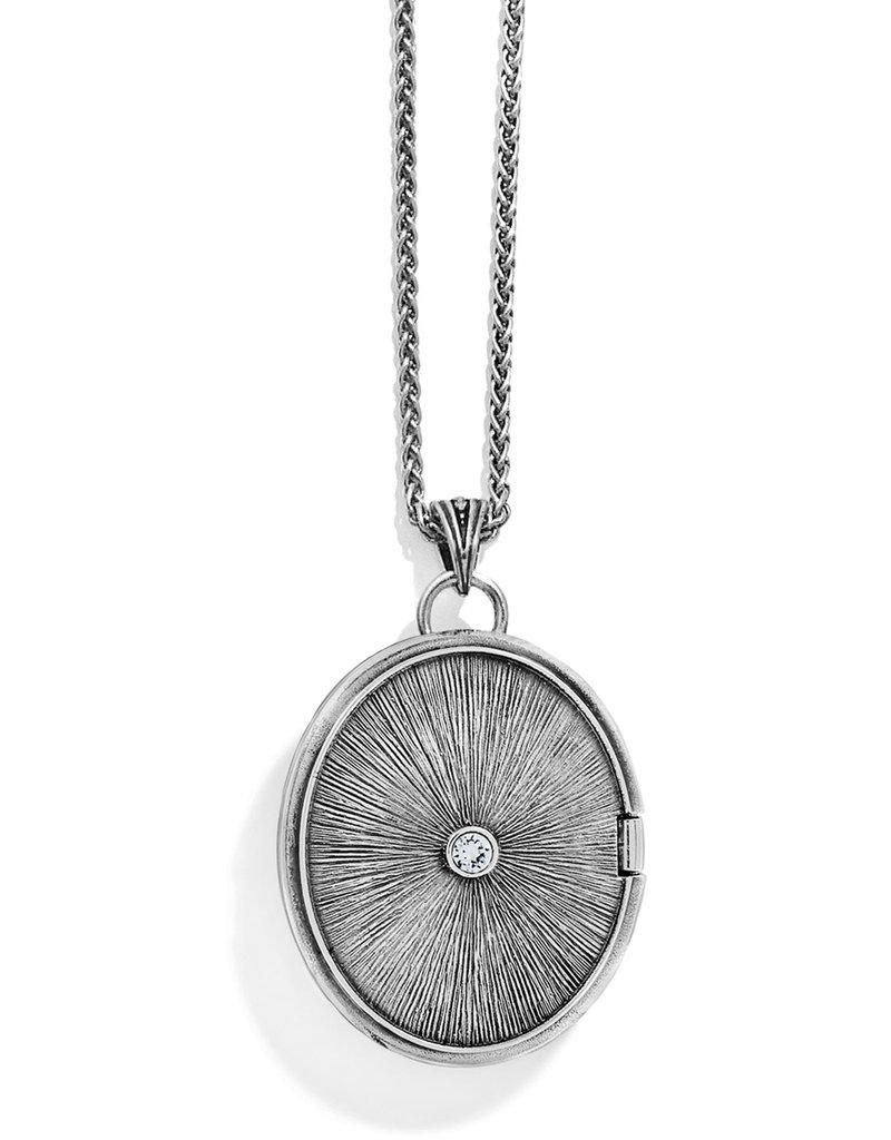 """Brighton Intrigue Convertible Locket Necklace 18-38"""""""
