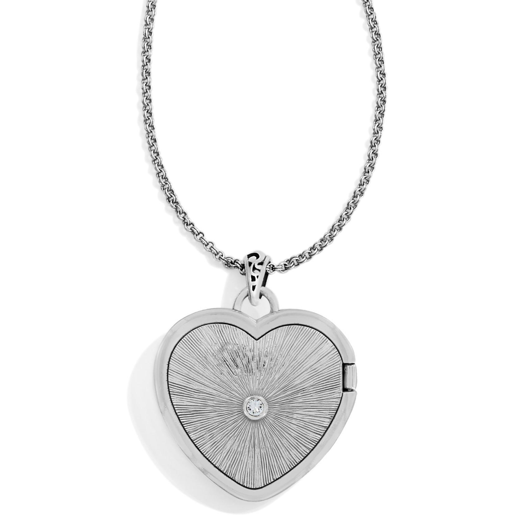 "Brighton Timeless Heart Convertible Locket Necklace 18-38"""