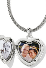Brighton Timeless Heart Convertible Locket Necklace 18-38""