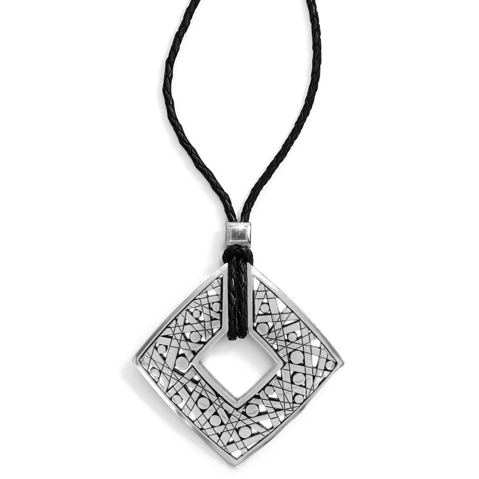 Brighton Nazca Long Necklace Silver-Black