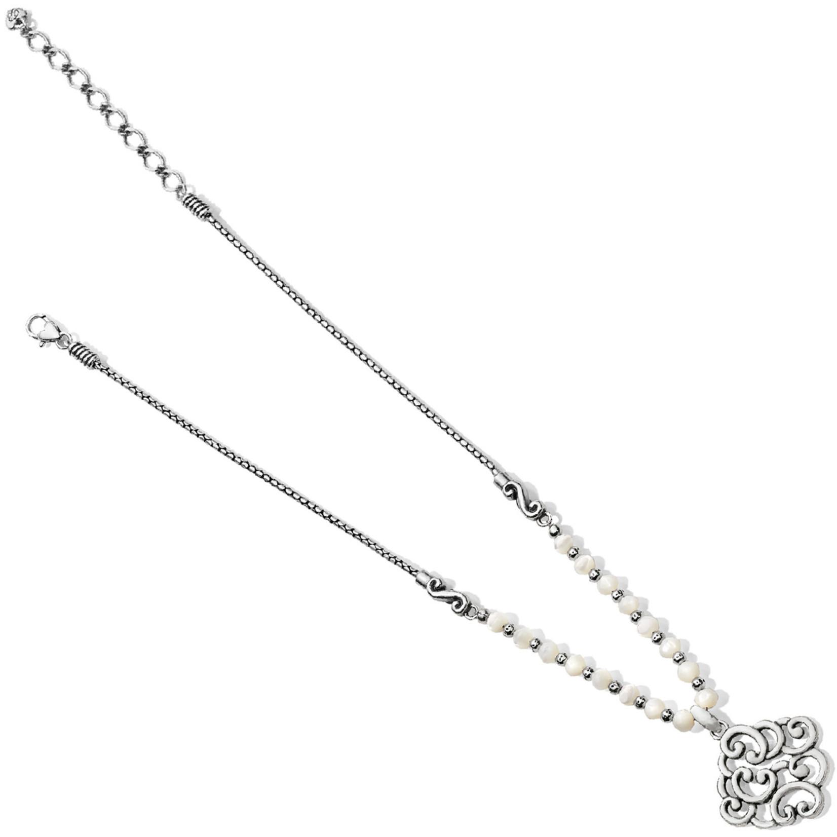 Brighton Barbados Nuvola Shell Necklace Silver-Pearl
