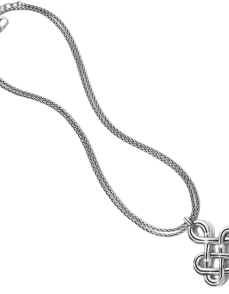 "Brighton Interlok Endless Knot Convertible Necklace 18-38"""
