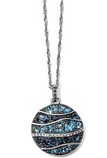 Brighton Trust Your Journey Wave Pendant Necklace Blue OS