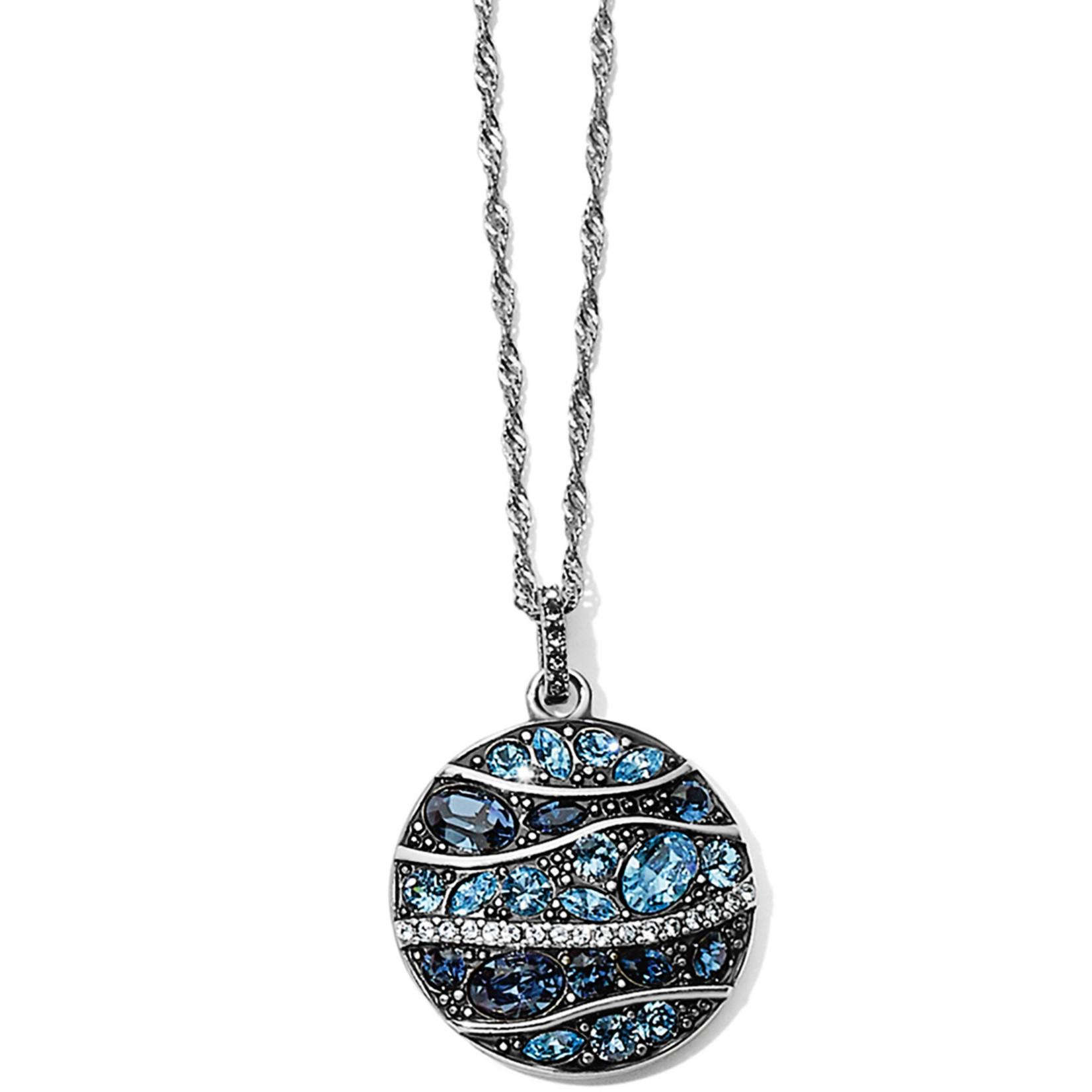 Brighton Trust Your Journey Wave Pendant Necklace Blue OS